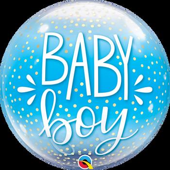 "22""Q Bubble, Baby Boy & Confetti Pkg (1 count)"