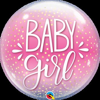 "22""Q Bubble Baby Girl Pink & Confetti Pkg (1 count)"
