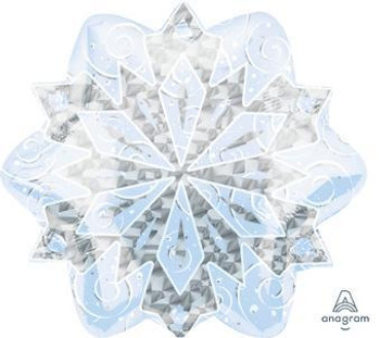 "18""A Snowflakes Holograph White (5 count)"
