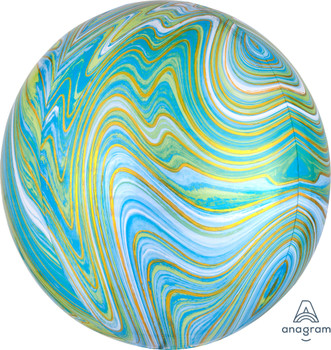 "16""A Orbz Marblez Blue/ Green (3 count)"