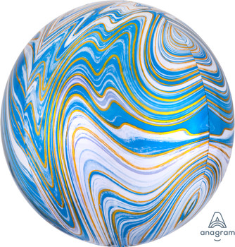 "16""A Orbz Marblez Blue (3 count)"