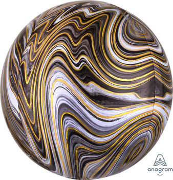 "16""A Orbz Marblez Black (3 count)"