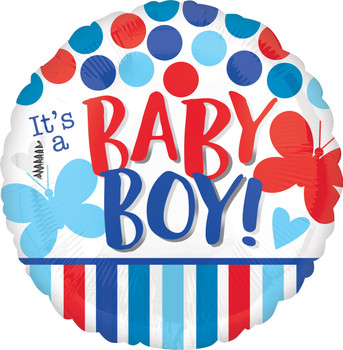 """18""""A It's A Boy Red/Blue (10 count)"""