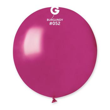 "19""G Metallic Burgundy #052(25 count)"