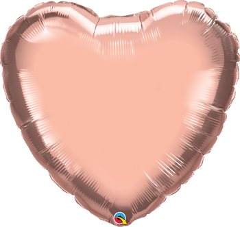 "36""Q Heart Mylar Rose Gold (5 count)"