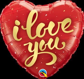 """18""""Q I Love You Gold Script(5 count)"""