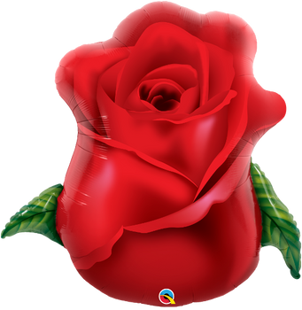 "33""Q Flower Rose Bud Red (5 count)"