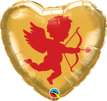 """18""""Q Cupid Red/Gold (10 count)"""
