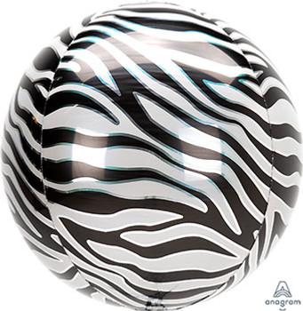 "16""A Orbz Animal Print Zebra (3 count)"