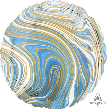 "18""A Marblez Circle Blue(10 count)"