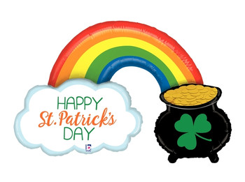 """47""""B St. Patrick's Day Pot of Gold Rainbow (1 count)"""