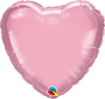 "4""Q Heart, Pearl Pink (10 count)"