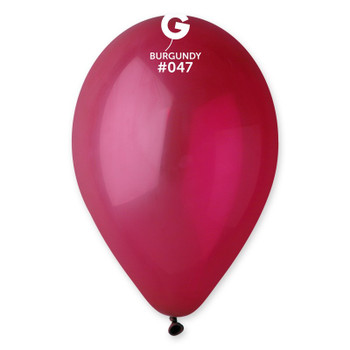 "12""G Burgundy #047 (50 count)"