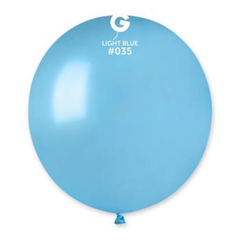 """19""""G Metallic Light Blue #035(25 count)"""