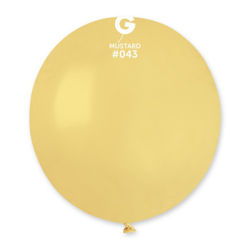 """19""""G Mustard #043 (Pale Yellow) (25 count)"""