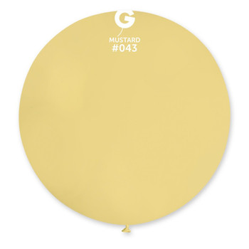 """31""""G Mustard #043 (Pale Yellow) (1 count)"""