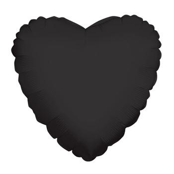 "4""K Heart, Black(10 count)"