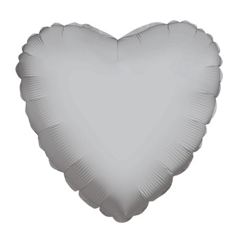 "4""K Heart, Silver(10 count)"