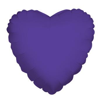 """4""""K Heart, Purple(10 count)"""