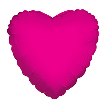 """9""""K Heart, Hot Pink(10 count)"""