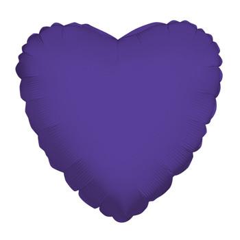 """9""""K Heart, Purple(10 count)"""