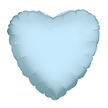 "9""K Heart Light Blue (10 count)"