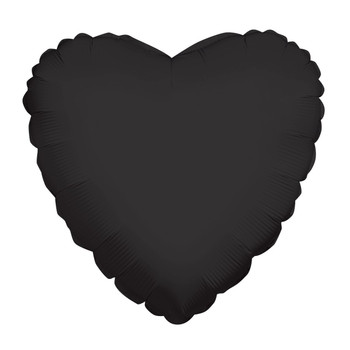 "9""K Heart, Black(10 count)"