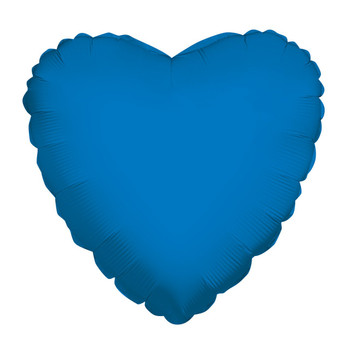 "9""K Heart, Royal Blue(10 count)"