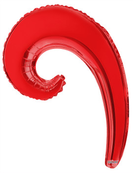 "14""K Kurly, Wave Red(10 count)"