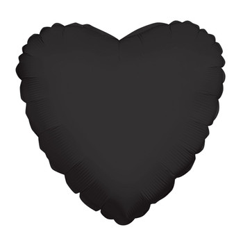 "18""K Heart Black (10 count)"