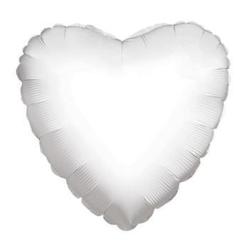 """18""""K Heart White (10 count)"""