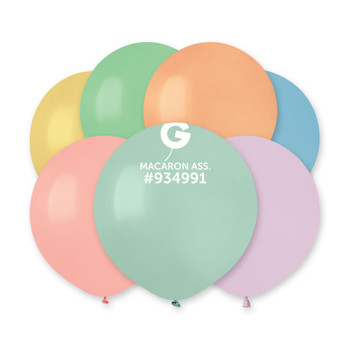 "19""G Assorted Pastel Macaron #G150 (25 count)"