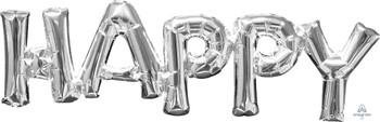 "30""A Phrase Happy  Silver Pkg (1 count)"