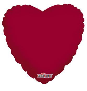 "18""K Heart Burgundy (10 count)"