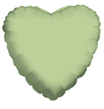 """18""""K Heart Olive Green (10 count)"""
