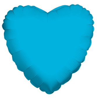 "18""K Heart, Turquoise Blue (10 count)"