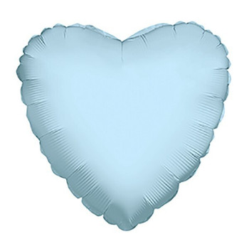 "18""K Heart Light Blue (10 count)"