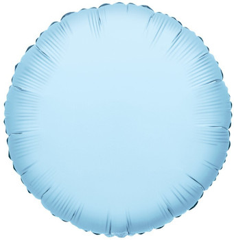 "18""K Round, Light Blue(10 count)"