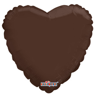 "18""K Heart, Chocolate Brown (10 count)"