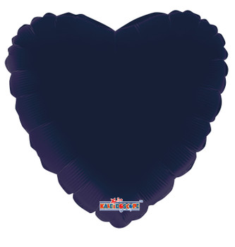 "18""K Heart, Navy Blue (10 count)"