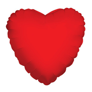 "18""K Heart, Red(10 count)"
