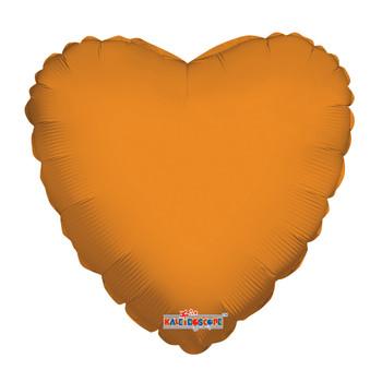 """18""""K Heart Orange (10 count)"""