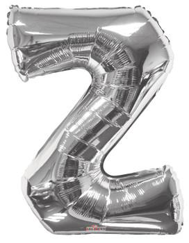 "34""K Silver Letter Z (1 count)"