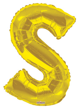"34""K Gold Letter S (1 count)"