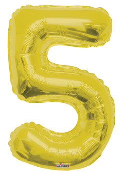 "34""K Gold Number 5 (1 count)"