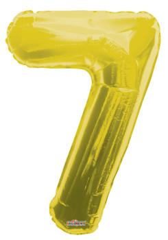 """34""""K Gold Number 7 Pkg (1 count)"""