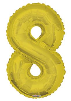 """34""""K Gold Number 8 Pkg (1 count)"""