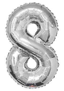 """34""""K Silver Number 8 Pkg (1 count)"""