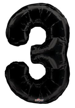 """34""""K Black Number 3 (1 count)"""