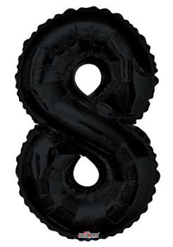 """34""""K Black Number 8 (1 count)"""